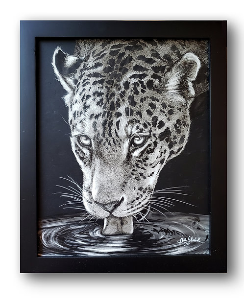"'Jaguar' Original Drawing, 8"" x 10"""