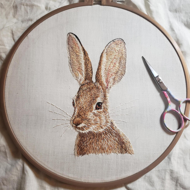 Bunny, Hand Embroidery