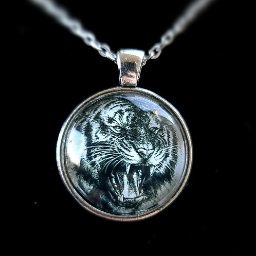 'Roaring Tiger' - Art Pendant Necklace