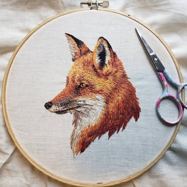 Fox, Hanmade Embroidery