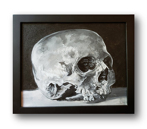 """'Skull Still-Life' Original Painting, 10"""" x 8"""""""
