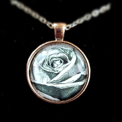 'Rose' - Art Pendant Necklace