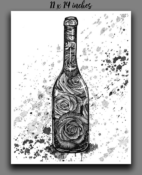 """Blooming Wine"" Signed Print"