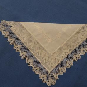 A Bucks point wedding Handkerchief.