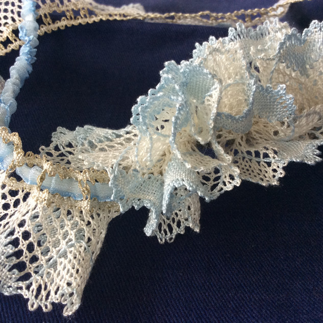 Lace garter for a member of Jan's family.