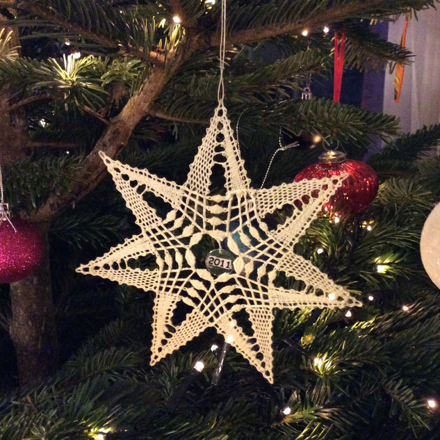 Bobbin Lace Christmas star