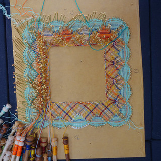 Torchon square edging. Pricking from my book. TORCHON LACEMAKING