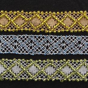 Beaded lace bracelets