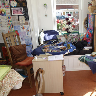 The studio - great place to make lace!
