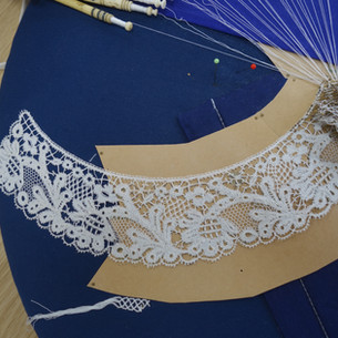 Elisabeth has been working on this spectacular collar for some years with me at Missenden Abbey.