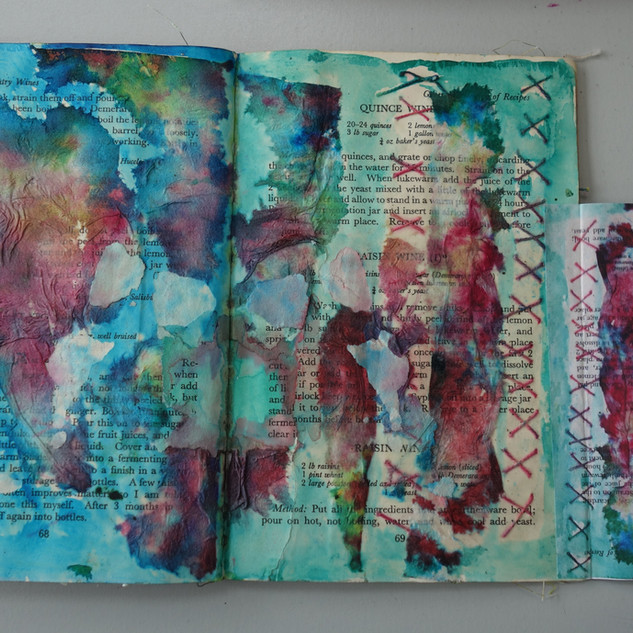 An altered book design based on wine making.