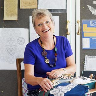 Jan hard at work in her studio
