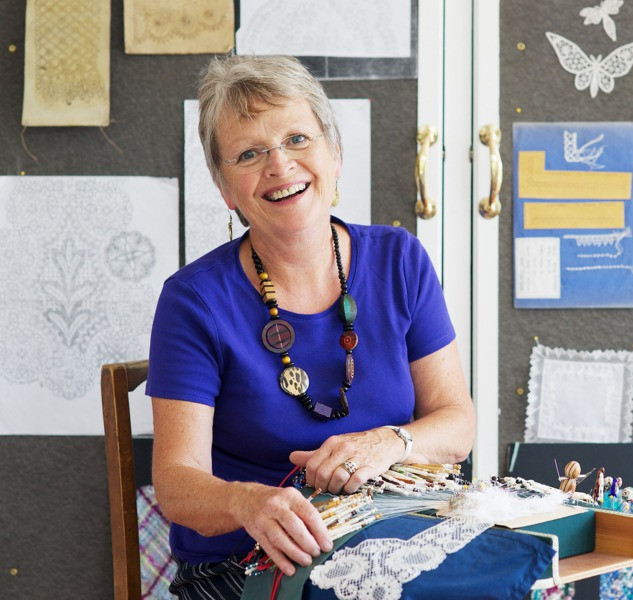 Jan hard at work in her studio