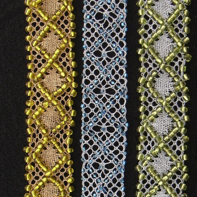 Beaded Bobbin Lace Bracelets