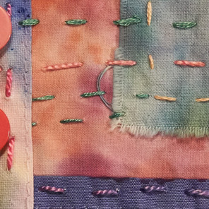 close up of Boro textile