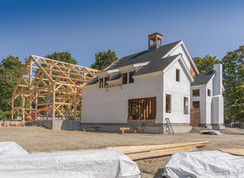 New House Construction post and beam fra