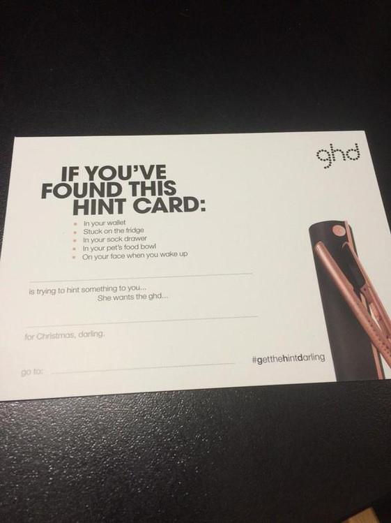 Hint Card