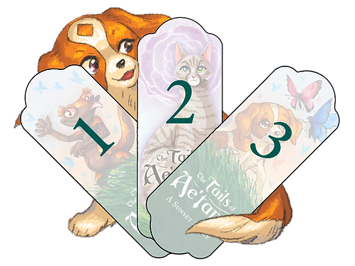 The Tails of Ae'tann : A Sunset Story Bookmarks (Olive, Soc'ran, ChangChang)