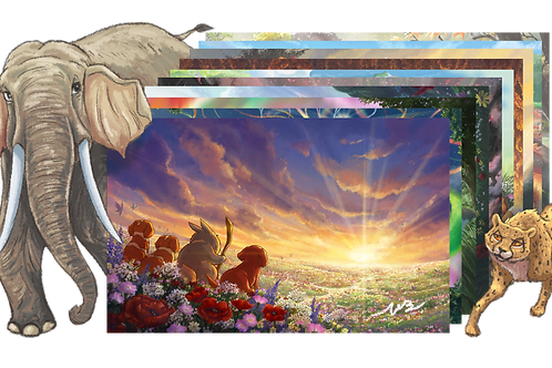 The Tails of Ae'tann: A Sunset Story Art Spread
