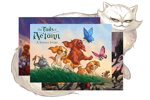 The Tails of Ae'tann: A Sunset Story Postcards (Set of 4)