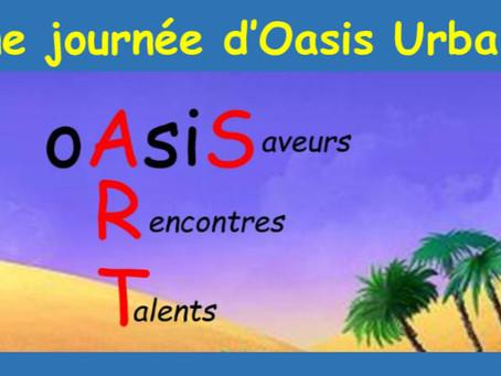 """Dimanche 28 Mars, OASIS URBAINE : """"Rencontre et Création"""", de 11h à 16h, Avec Cristina et Jean-Guy."""
