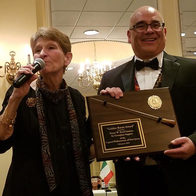 Gloria Teti with Honoree Mayor Reed Gusciora