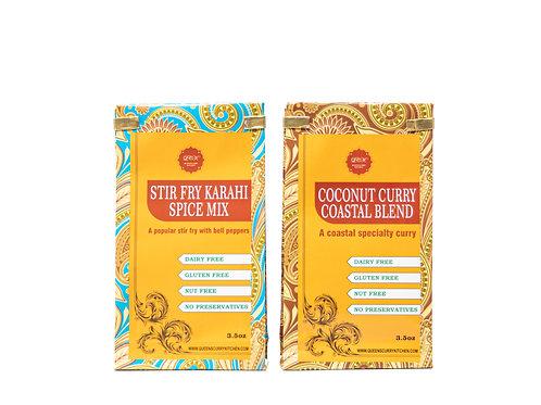 Stir Fry Karahi Spice Mix & Coconut Curry Coastal Blend