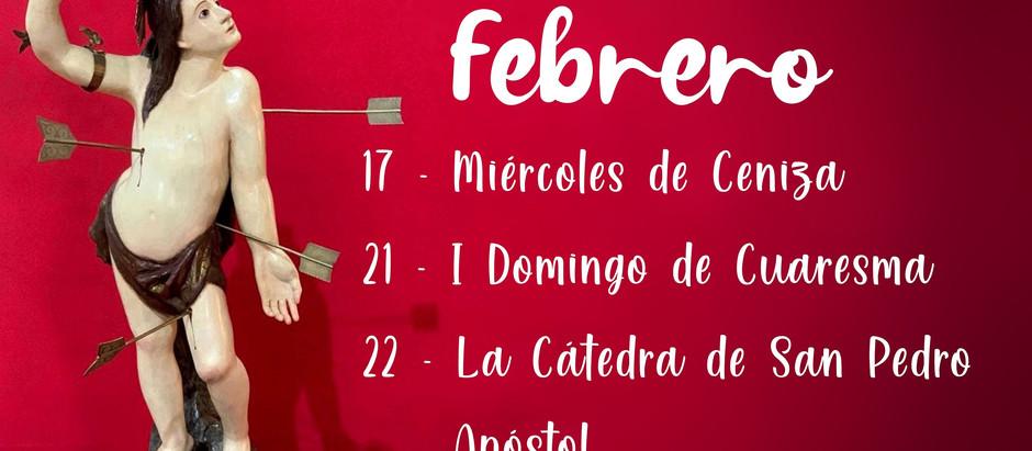 Calendario Litúrgico Febrero