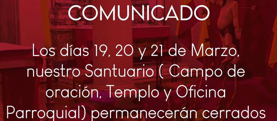 COMUNICADO DE NUESTRO SANTUARIO SAN SEBASTIÁN DE YUMBEL