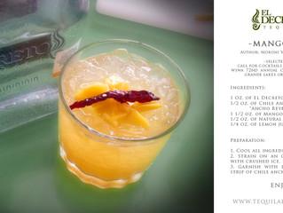 El Decreto Mango Lion cocktail