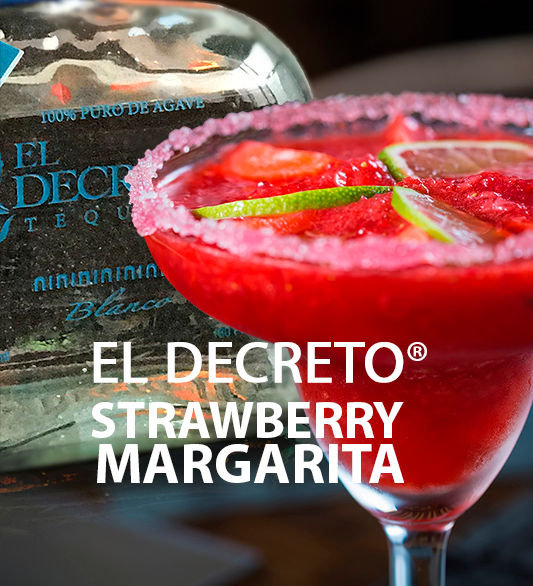El Decreto Tequila Strawberry Margarita