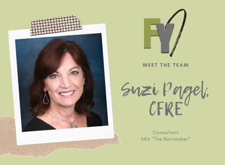 FYI Meet the Team: Suzi Pagel, CFRE, Consultant