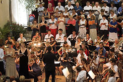 A choir and orchestra performance with Graham Ross, supported by The Musique-Cordiale Trust