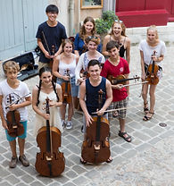 String Academy students supported by The Musique-Cordiale Trust