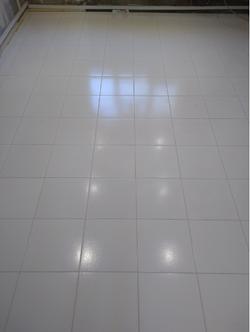 White porcelain tiles