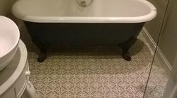 small bathroom floor tile
