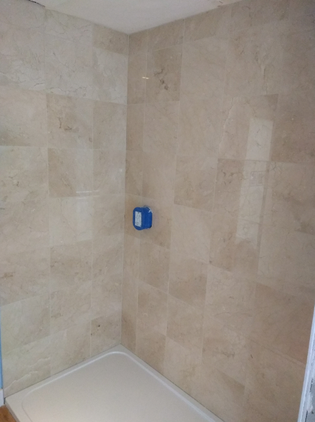 Marble shower enclosure