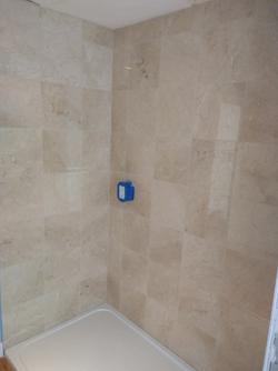 Marble shower enclosure