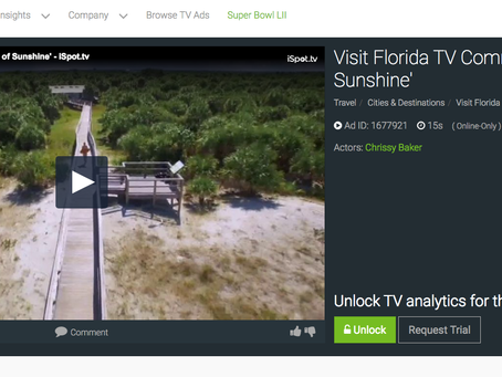 New National Spots for Visit Florida's Moments of Sunshine Campaign!