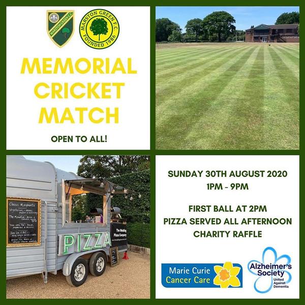 Memorial Cricket Match 2020