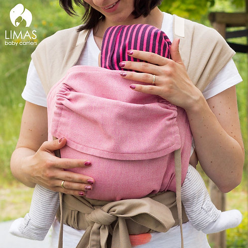 Babytrage-LIMAS rosa-beige wendbar