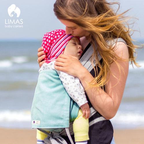 Babytrage-LIMAS türkis-grau wendbar