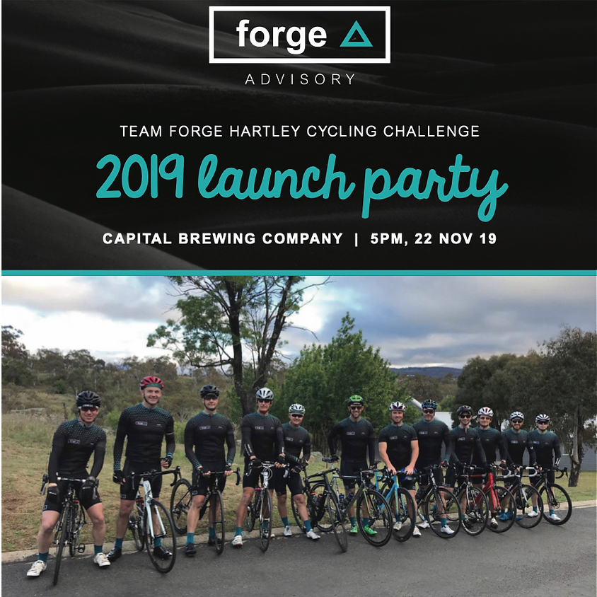 Team Forge Hartley Cycling Challenge 2019 Team Launch