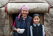 central-asia-yurt-grandmother-daughter-2