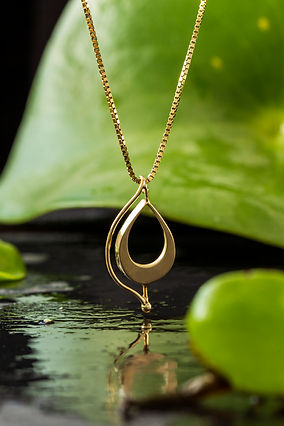 Botanical Jewelry_hanger goud_foto's doo
