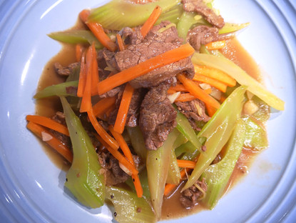 Celery and Beef Stir-fry
