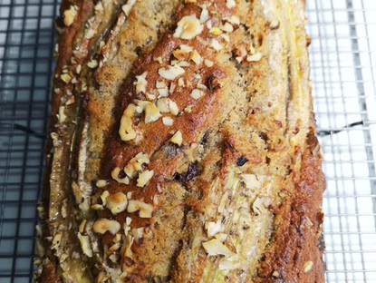 Banana Bread with walnut and oat