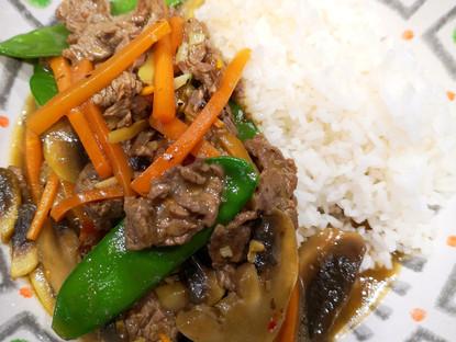 Beef Mushroom Stir-Fry