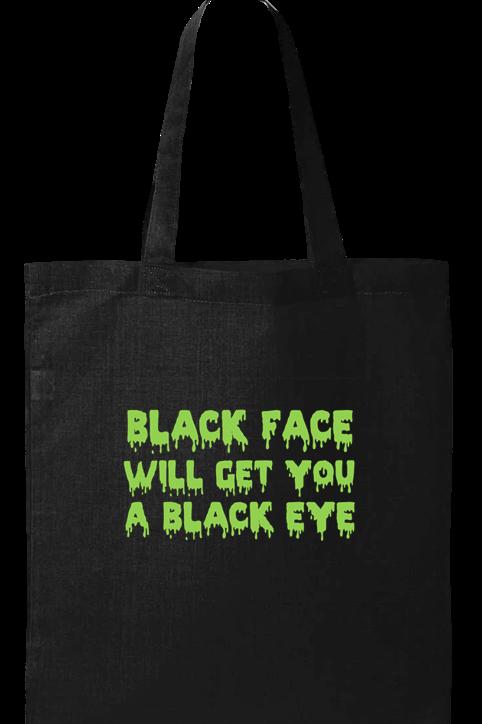 Black Face, Black Eye Tote Bag