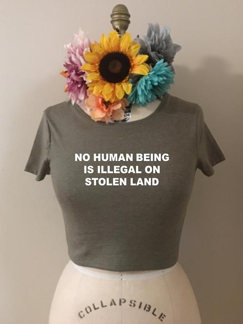Stolen Land Crop Top